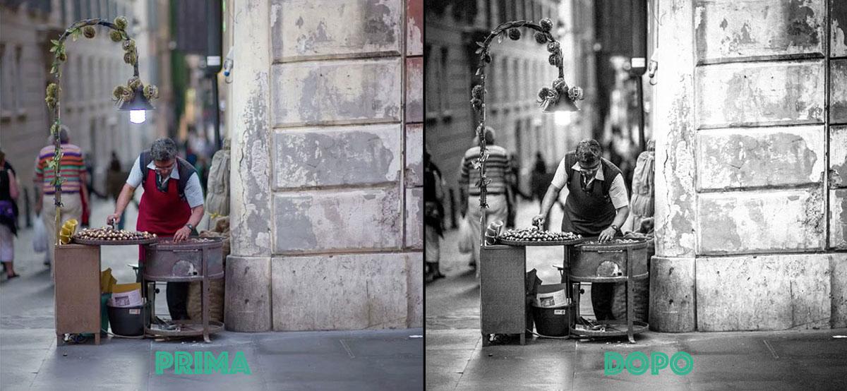 Convertire una foto in bianco e nero, tutorial Photoshop, Fotoritocco,