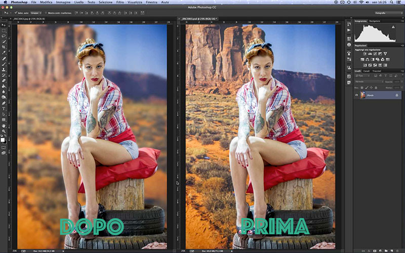tutorial photoshop, come sfocare lo sfondo foto,