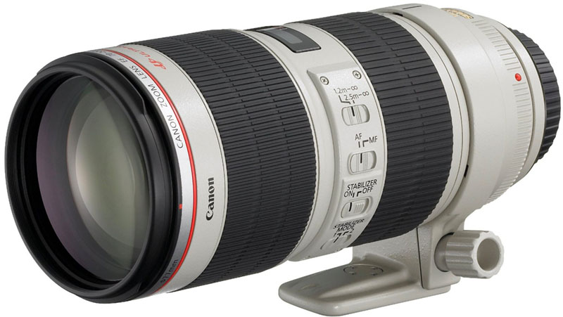 Canon EF 70-200mm, USM, frontale