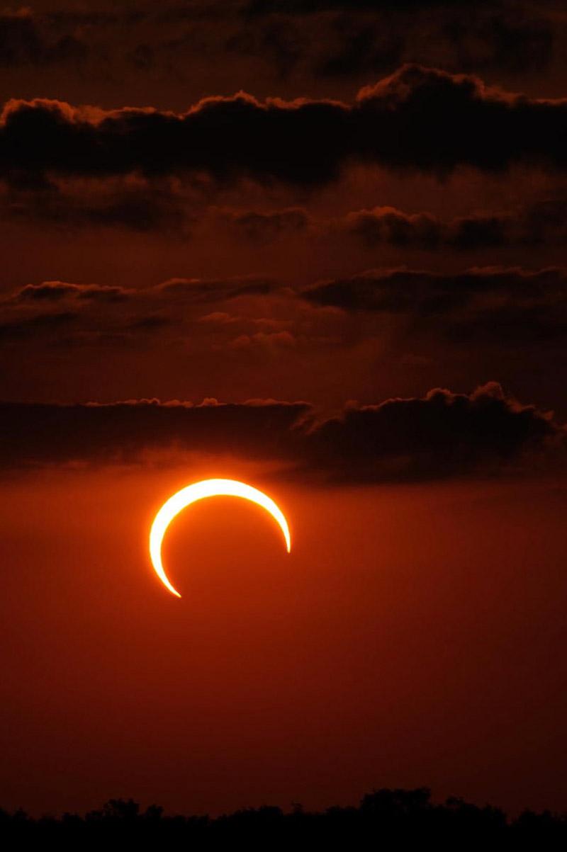 Come fotografare una eclissi solare, tecnica fotografica, 20mm