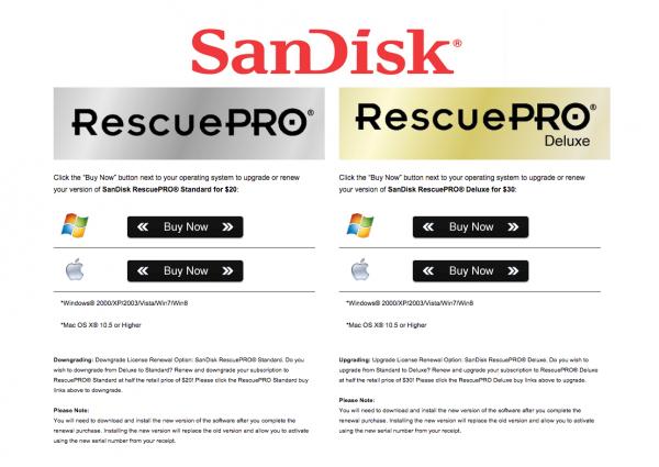 Come recuperare dati persi dalle Memory card, Sandisk, SD, CF,