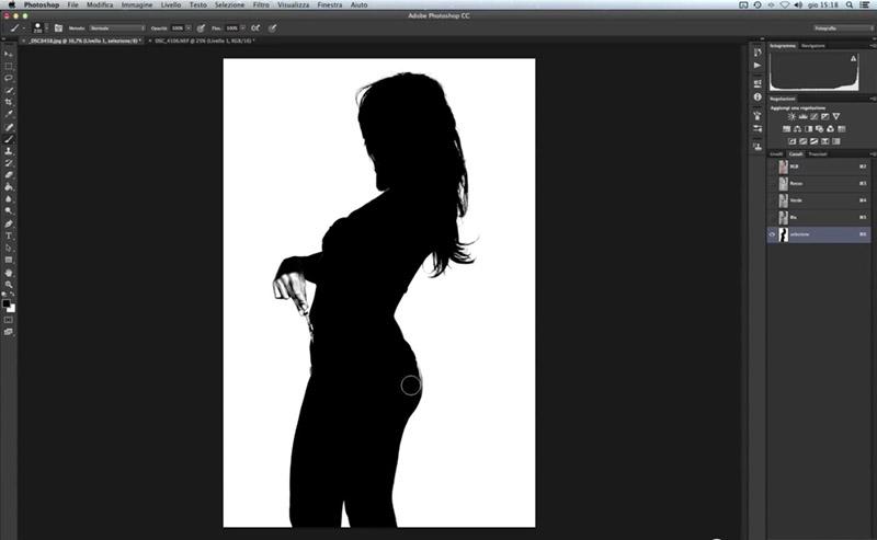 Come scontornare una foto, tutorial photoshop, fotoritocco, canali RGB
