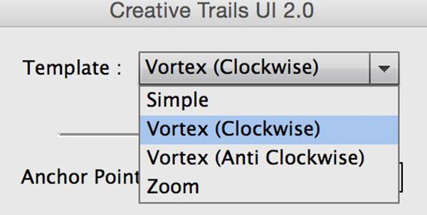 Creative Trail UI, Script, menu, tendina