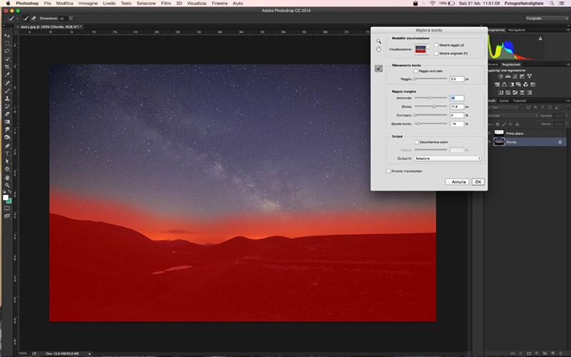 Creative Trail UI, script, Tutorial Photoshop, selezione, cielo, sfuma