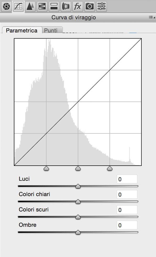 Curve di viraggio, strumento, tutorial Camera Raw, Fotoritocco