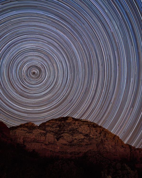 Come fare uno Startrail, tecnica fotografica, fotografia notturna