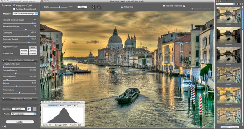 Fotografia HDR, tecnica fotografica, Photomatix pro