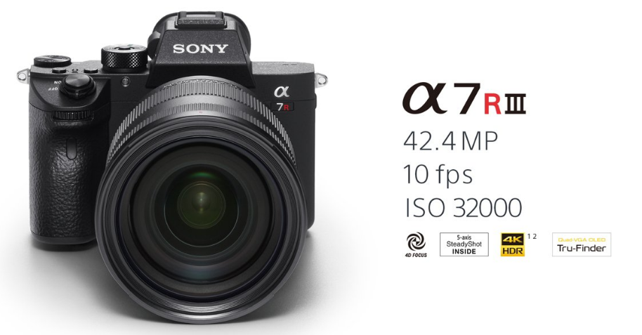 Sony a7R III, mirrorless, full-frame