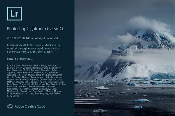 Adobe Lightroom, lightroom classic, aggiornamento