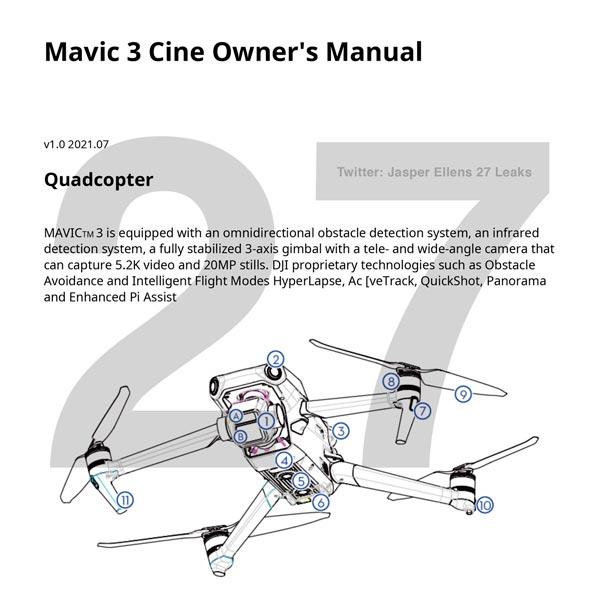 Libretto manuale DJI Mavic 3