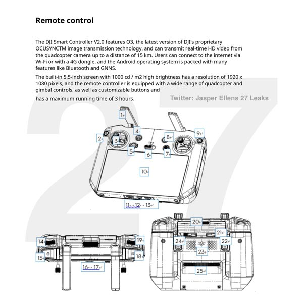 smart controller dji mavic 3 pro