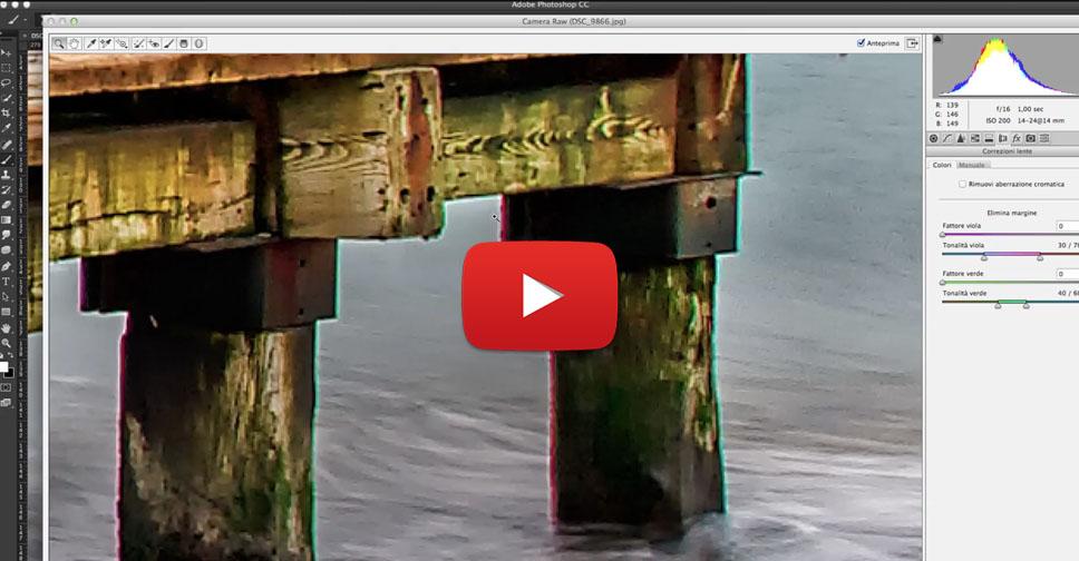 Come eliminare le aberrazioni cromatiche, Tutorial Camera Raw,