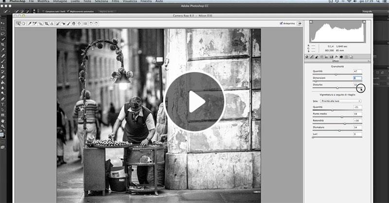 come convertire una foto in bianco e nero, tutorial Camera Raw, Fotoritocco