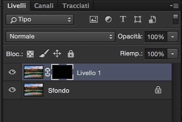 Maschere di livello, Tutorial Photoshop, Fotoritocco, nera