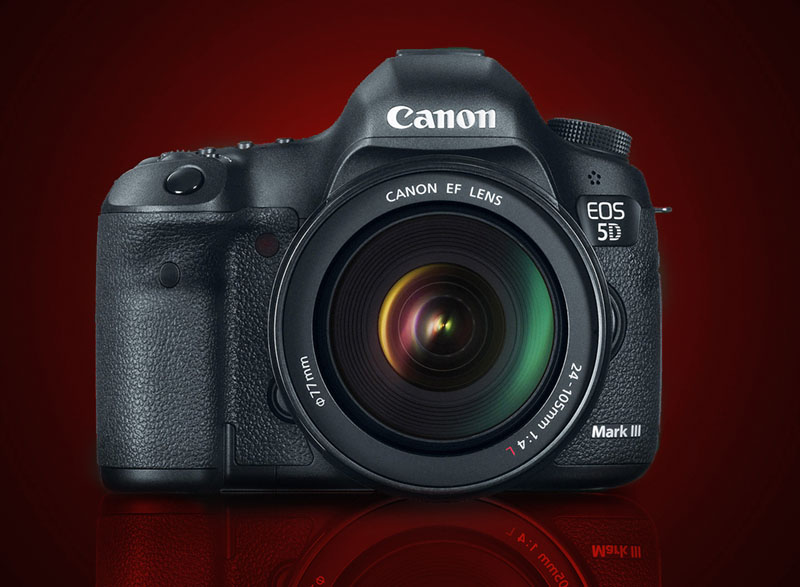 Canon EOS 5D Mark III, Relfex, Full-frame, front