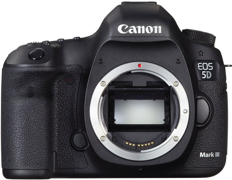 Canon EOS 5D Mark III, Relfex, Full-frame, fronte