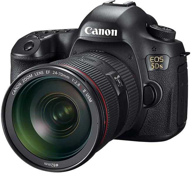 Canon EOS 5DS, Front, obiettivo