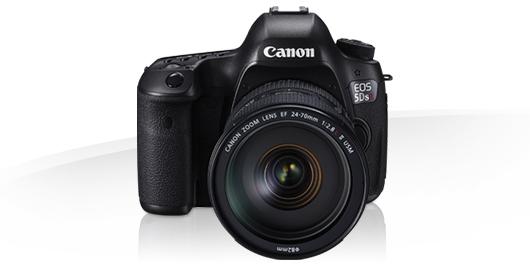 Canon EOS 5DS R, frontale, obiettivo