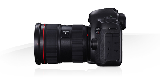 Canon EOS 5DS R, laterale, obiettivo