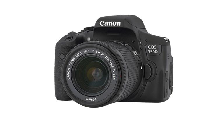 Canon EOS 750D, Novità, reflex, frontale
