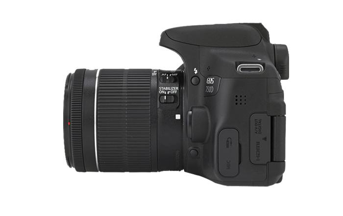 Canon EOS 750D, reflex, novità, laterale