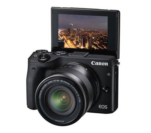 Canon EOS M3, Mirrorless, camera, LCD