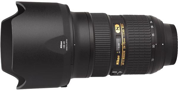 Nikkor 24-70mm, obiettivo, Nikon, Paraluce