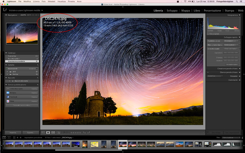 Adobe Lightroom, tecnica fotografica, tutorial