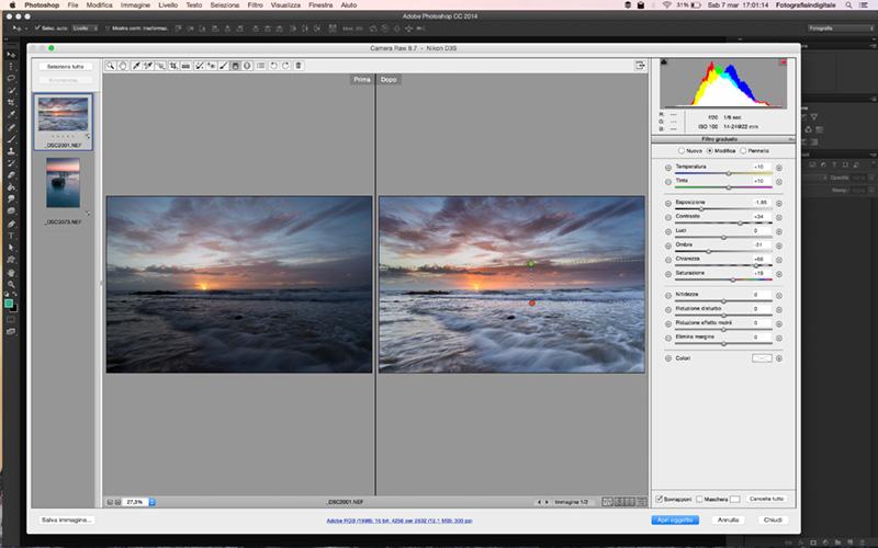 Filtro Graduato, Tutorial Camera Raw, Photoshop, Fotoritocco, filtri GND, 3