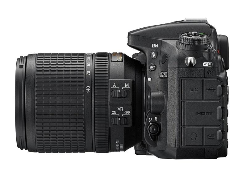 Nikon D7200, Reflex, novità, wi-fi, laterale