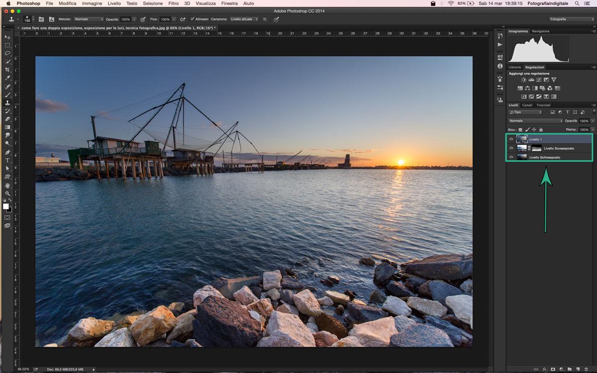 come fare una doppia esposizione, tecnica fotografica, impostazione reflex, Tutorial Photoshop