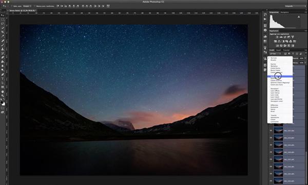 come fare uno startrail, tecnica fotografica, tutorial photoshop, fotoritocco