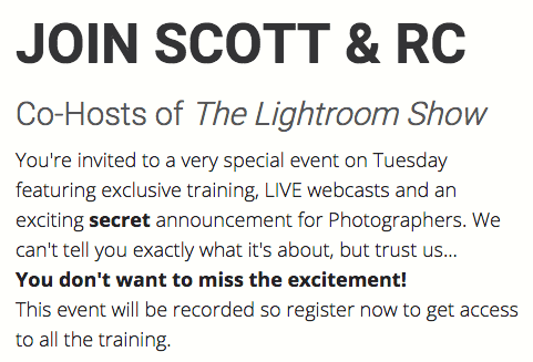 Adobe Lightroom 6, rumors