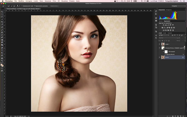 Come applicare una texture ad un ritratto, tutorial photoshop