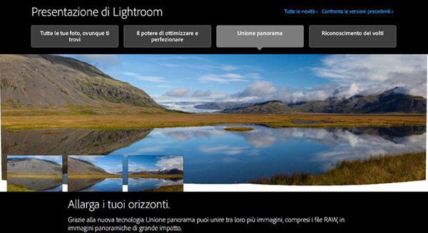 Lightroom 6, foto panoramiche