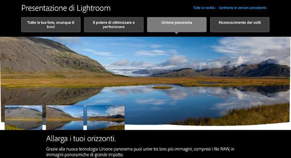 Lightroom 6, foto panoramiche