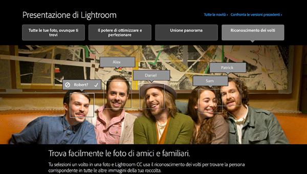 Lightroom 6, riconoscimnento volti