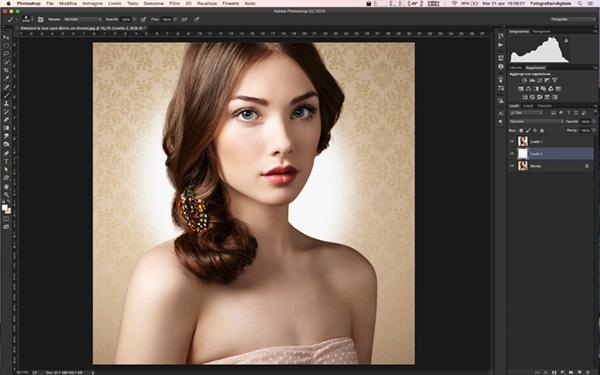 Simulare un bagliore dietro un ritratto, tutorial photoshop