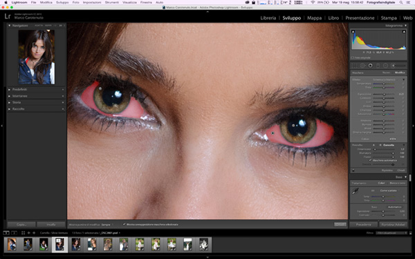Come migliorare gli occhi di un ritratto