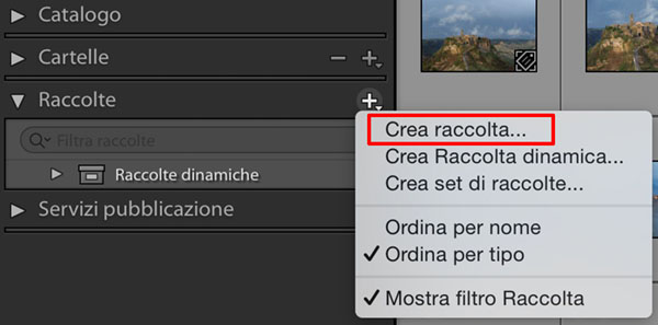 Le raccolte di Lightroom, tutorial Lightroom, fotoritocco