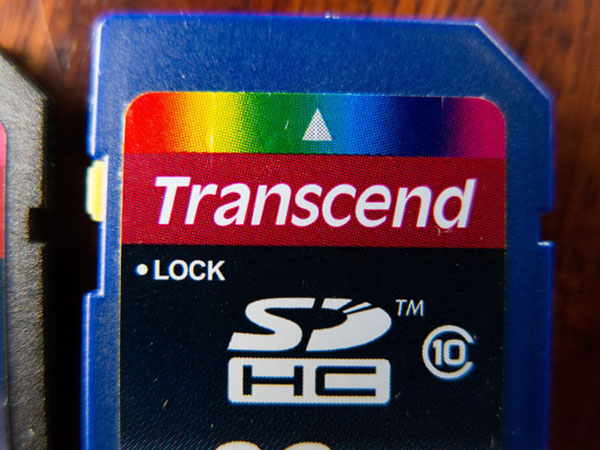 memory card Transcend, originale