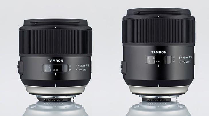 Tamron SP 35mm e Tamron SP 45mm