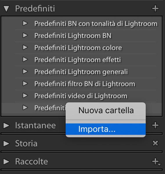 Come installare i preset di Lightroom, tutorial lightroom